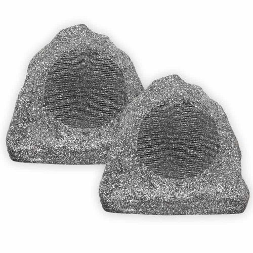 Theater Solutions 2R6G 6.5-Inch Granite Rock Patio Speaker
