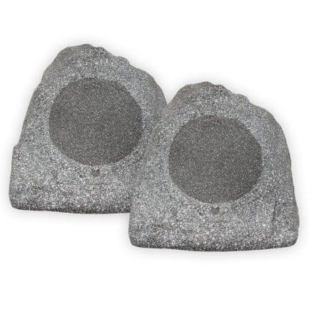 Theater Solutions 2R8G 8-Inch Woofers Outdoor Garden Waterproof Granite Rock Patio Speaker