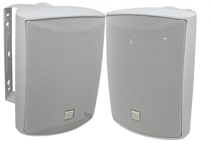 Dual LU53PW 125 Watt 3 Way Outdoor Speakers In White