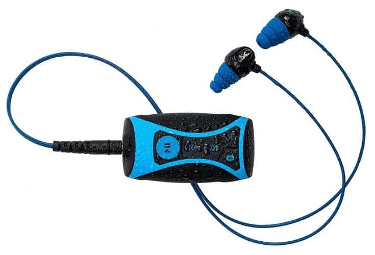 H2O Audio 100% Waterproof Stream MP3 Music Player with Bluetooth and Underwater Headphones