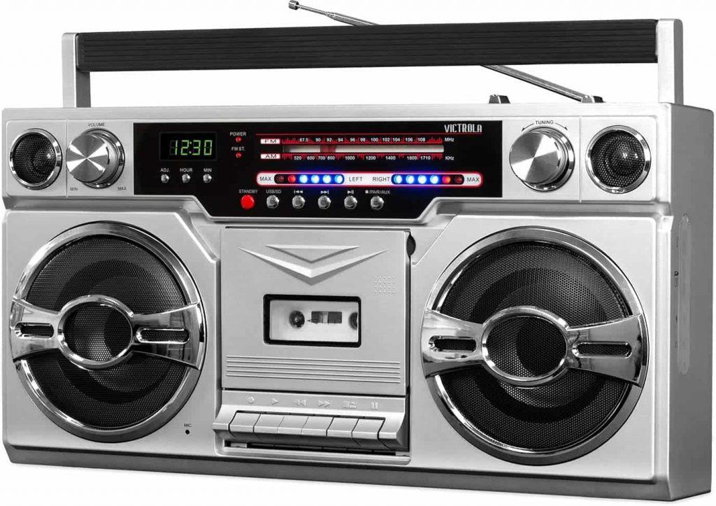 Victrola 1980s Retro Bluetooth Boombox
